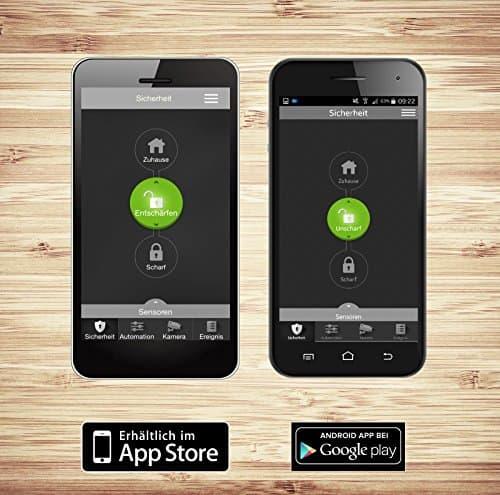 blaupunkt smart home alarm q3000 starter kit smart home alarmanlage bzw funk ip. Black Bedroom Furniture Sets. Home Design Ideas