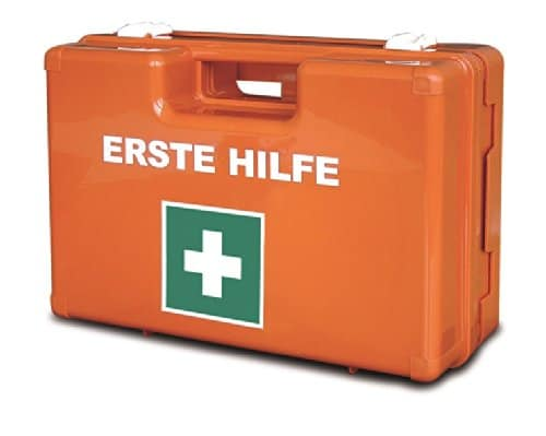 gro er betriebs verbandskasten erste hilfe koffer din 13169 l llmann verbandkasten orange 620155. Black Bedroom Furniture Sets. Home Design Ideas